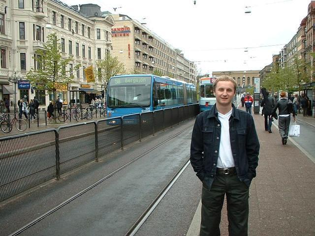 Jim in front of something Swedish